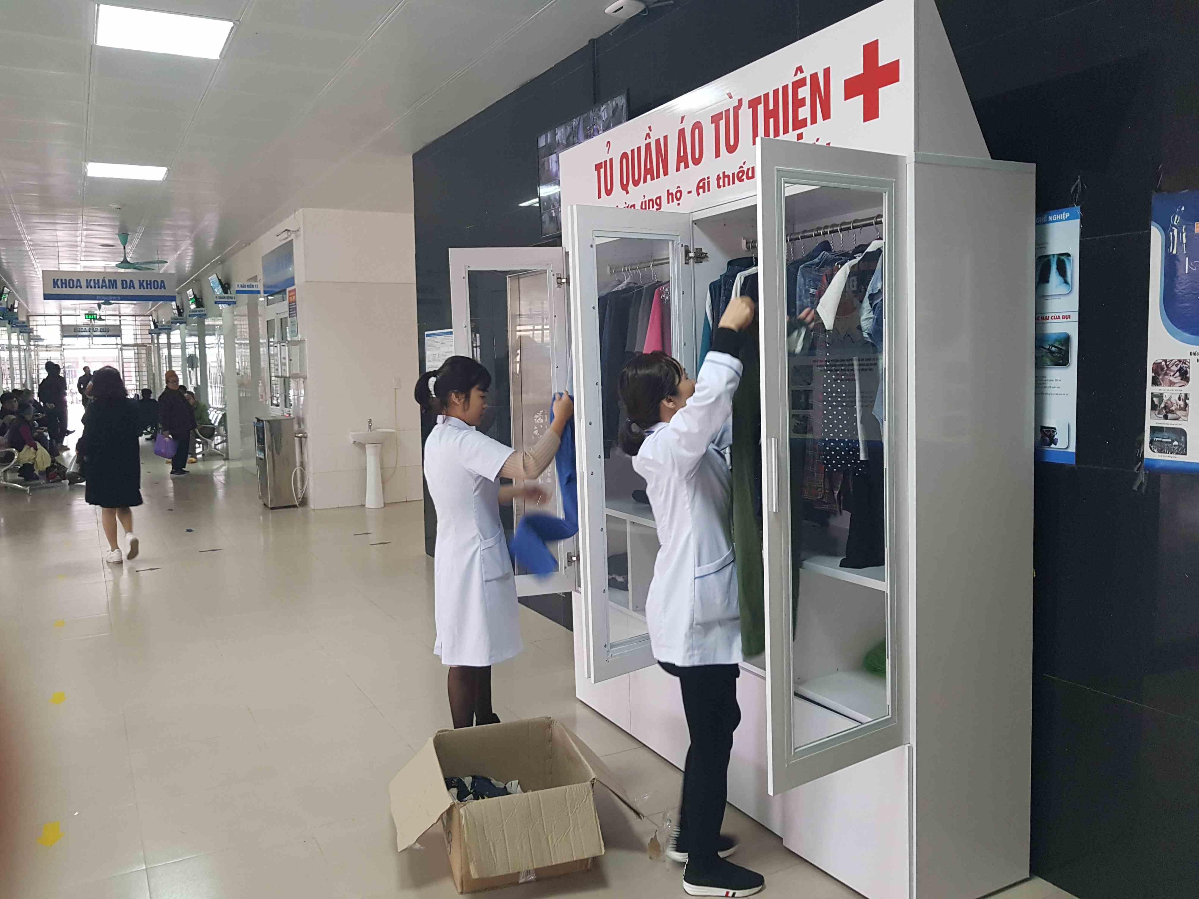 Trung tâm Y tế huyện Đầm Hà ra mắt tủ quần áo từ thiện phục vụ bệnh nhân có hoàn cảnh khó khăn